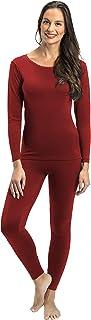 ملابس داخلية من قطعتين حراريتين وفائقتي النعومة للنساء من روكي - بلوزة وسروال داخلي مبطنان بالصوف