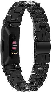 Jennyfly Bracelet de rechange pour Fitbit Inspire/Inspire HR - En résine - Avec boucle en acier inoxydable - Réglable - 14...