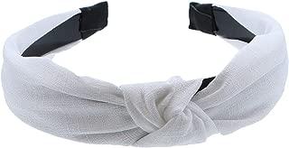 White 1 Inch Fabric Turban Knot Headband