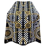 "Pelocapa Barber Cape for Men Hair Cutting Salon Cape with Snap Closures Waterproof Professional Large Barber Hairdresser Cape- 63""× 56""(Gold Pattern)"