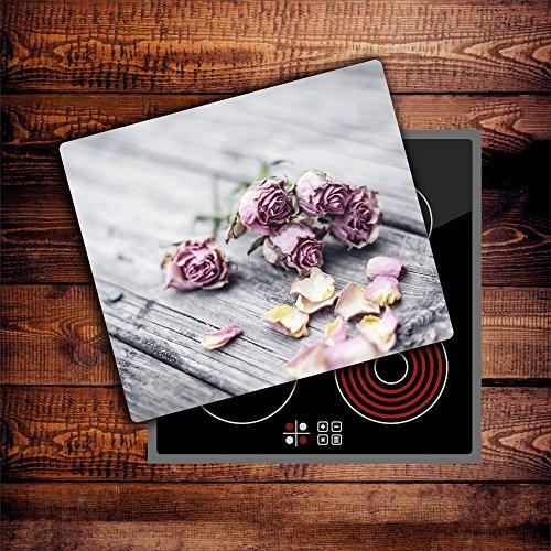 CTC-Trade | Herdabdeckplatten 60x52 cm Ceranfeld Abdeckung Glas Spritzschutz Abdeckplatte Glasplatte Herd Ceranfeldabdeckung Küche Natur