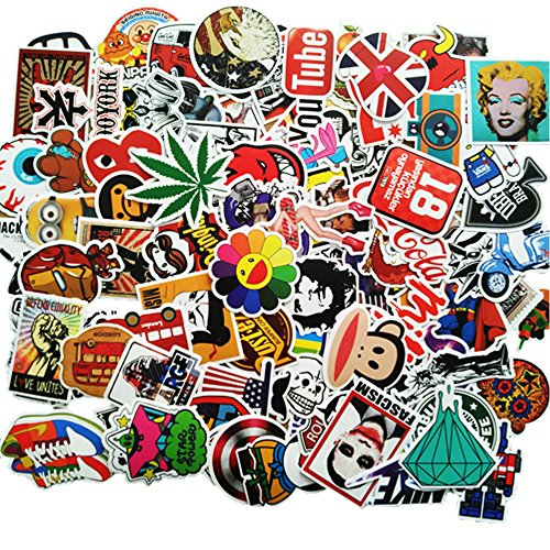 ANKENGS Sticker [100-Pcs] Stickers Vinili/Graffiti Sticker/Adesivo Casuale, per Laptop, Auto, Moto, Biciclette, Skateboard Bagagli, Adesivi per paraurti