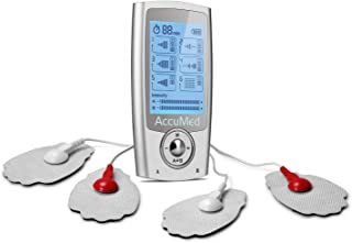 AccuMed FDA Cleared Tens Unit Muscle Stimulator EMS Electronic Pulse Massager Stim Machine for Physical Therapy Back and Neck Pain Relief Portable Electric Tinge Electro-Therapy 16 Modes AP212