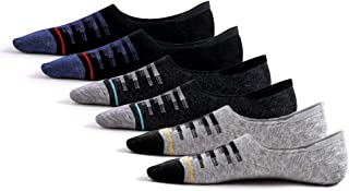 Socks Low Cut 6 Pairs Non Slip No Show Thin Cotton Men Invisible Loafer Socks