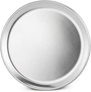 New Star Foodservice 50790 Pizza Pan/Tray, Coupe Style, Aluminum, 8 inch