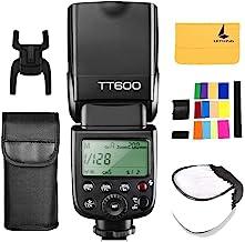 Godox TT600 2.4G Wireless Flash Speedlite Master/Slave Flash with Built-in Trigger System Compatible for Canon Nikon Pentax Olympus Fujifilm Panasonic (TT600)
