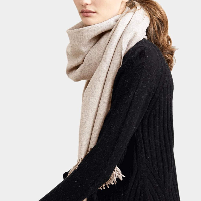 CHX Keep Warm Scarf Winter Wrap Woman 200cm×35cm Thicken Soft Shawl V (color   Light Coffee)