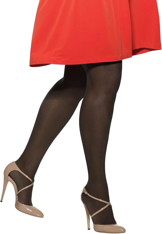 Hanes Womens Set of 3 Silk Reflections Plus Sheer Non-Control Top Enhanced Toe 1P, Jet