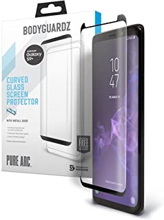 BodyGuardz - Pure Arc Glass Screen Protector for Galaxy S9+, Ultra-Thin Tempered Glass Screen Protection for Samsung Galaxy S9+
