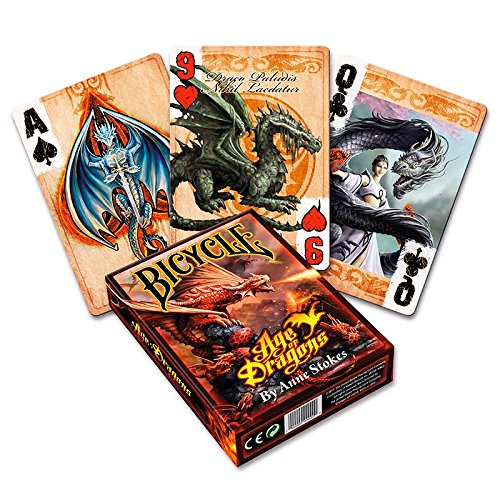 Bicycle Age of Dragons, Drachen-Karten, Playing Cards, Poker-Deck Spiel-Karten, Kartenspiele Illustrationen von Anne Stokes !, Fantasydeck in der Luxtri Specialedition + 3 ''Look & Feel''-Karten