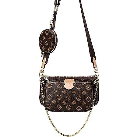 Sungg Mahjong Bag Umhängetasche Schultertasche 3 in 1 Luxus-Handtasche PU Leder Tragetaschen Fashion für Frauen.Braun