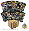 10 Assorted Pokemon TCG Booster Packs: from Various Sets and Generations - 100 Cards Total - All Cards are Authentic - Includes Golden Groundhog Treasure Chest! from Golden Groundhog