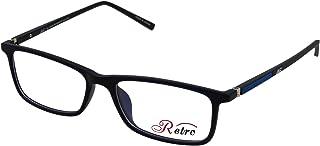 RETRO Unisex-adult Spectacle Frames Rectangular 5202 M.Dark Blue/Black