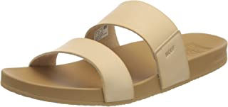Reef Women's Sandals   Cushion Vista   Vegan Leather Slides with Cushion Footbed