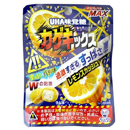 UHA味覚糖 カゲキックス レモンスカッシュ 10袋入り×5BOX