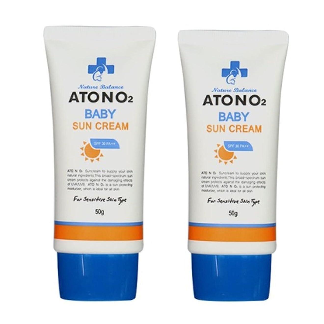 たぶん回るかもめ(ATONO2) ベビーサン?クリーム (SPF30/PA++) 50g x 2本セット ATONO2 Baby Sun Cream (SPF30/PA++) 50g x 2ea Set [並行輸入品]
