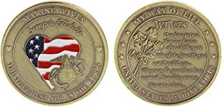 Ladaidra Commemorative Coin Marine Marines Wives Crops Collection Collectible Souvenir Gifts Art Coins Bronze