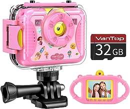 VanTop Junior K8 Kids Camera with 32GB Memory Card, Selfie 1080P Supported Waterproof..