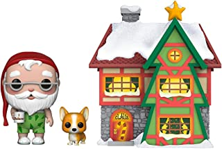 Funko Pop Town: Holiday-Santas House w/Santa & Nutmeg Figura Coleccionable, Multicolor (44423)