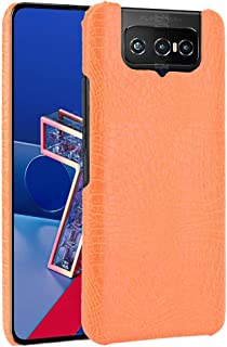 Allcecase Cover fit for Forfor Asus Zenfone 7 ZS670KS/ 7 Pro ZS671KS Shockproof Crocodile Texture PC + PU Case
