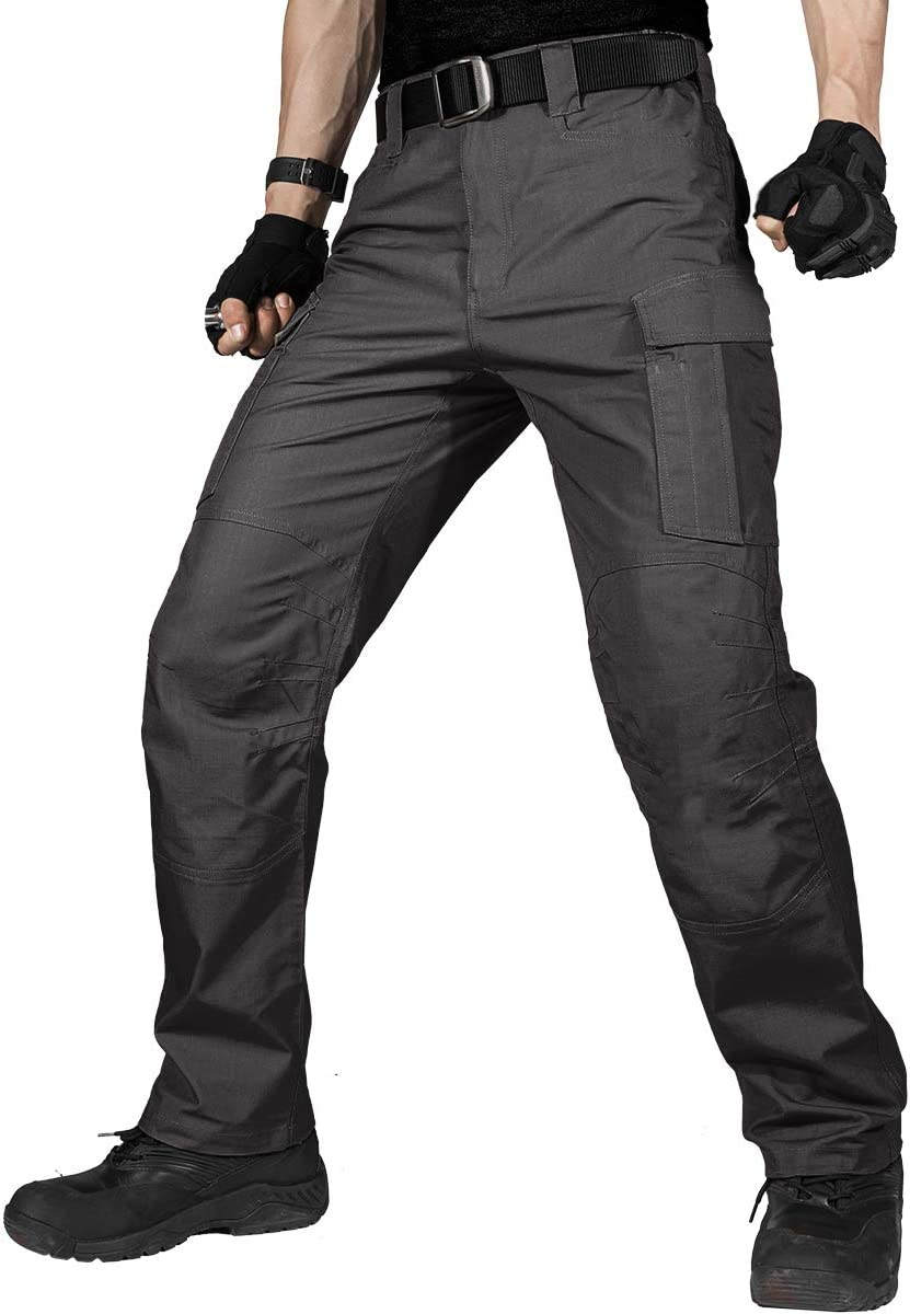 FREE SOLDIER Men's Water Resistant Pants Relaxed Fit Tactical Co