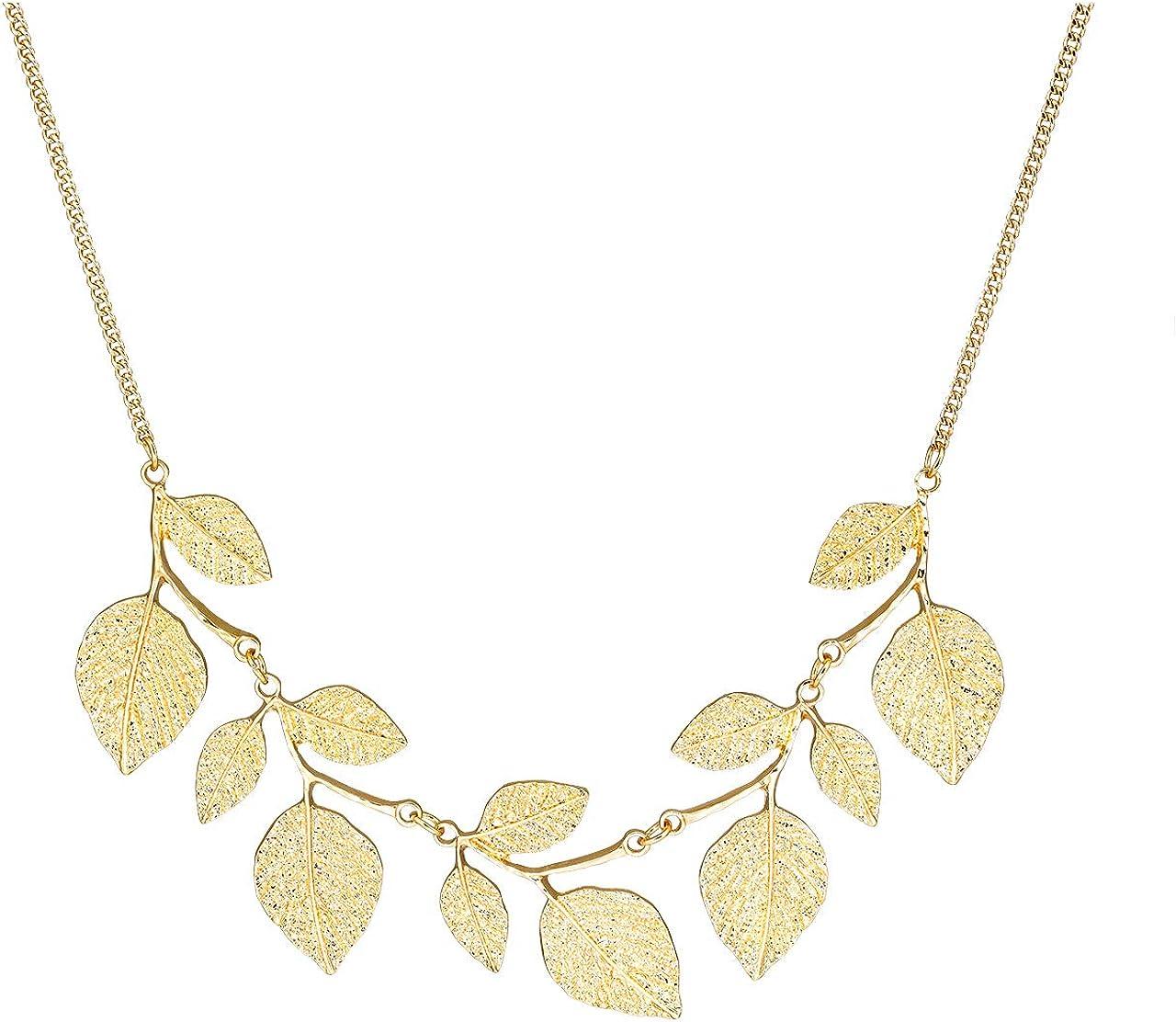 CENAPOG Bohemian Glitter Leaf Collar Women Regular dealer for Inventory cleanup selling sale Necklace Pl Girls