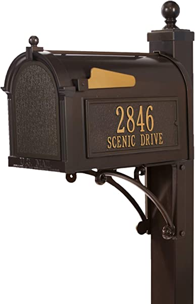 Whitehall Products Deluxe Mailbox Package French Bronze