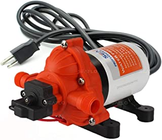 SEAFLO 110V 3.3 GPM 45 PSI Water Diaphragm Pressure Pump - 4 Year Warranty!!! with Plug for Wall Outlet