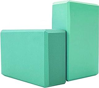 Yoga Blocks 2 Pack High Density Soft Eva Foam Yoga Bricks Improve Balance and Flexibility Odorless Moisture Resistant Non-...