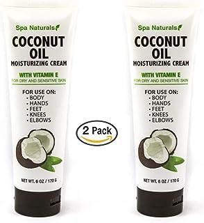 Spa Naturals Coconut Oil Moisturizing Cream with Vitamin E - 2 pk