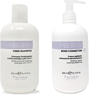 Fanola Fiber Fix Shampoo and Sealing Cream Package, 300 ML
