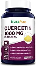 Quercetin 1000 mg - 200 Veggie Caps (Non-GMO,Gluten-Free, Vegetarian) Supports Healthy Immune System and Normal Respirator...