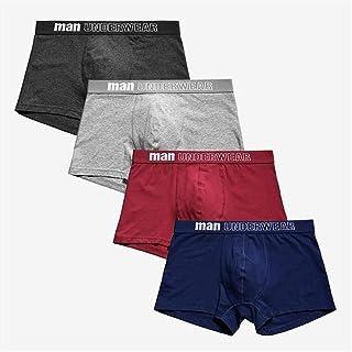 Men's underwear Men's Panties Boxer Men Underpants Men Underwear Male Men Cotton Boxer Shorts Solid Trunks chunjiao (Color : Clear, Size : Large)