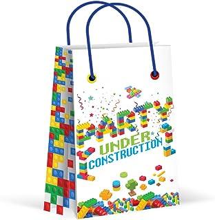 Premium Bricks Building Blocks Treat Bags, Party Bags, New, Gift Bags,Goody Bags, Building Blocks Party Supplies, Decorati...