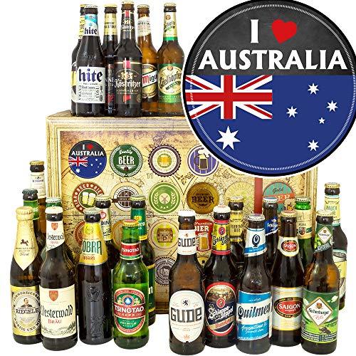 I love Australia ++ 24 Biere aus der Welt und D ++ Für Australien Fan/Bier Weihnachtskalender