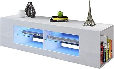 Living Room Furniture TV Cabinet Modern Minimalist TV Cabinet Living Room TV Cabinet Novel Fashion TV Cabinet Annacboy (Color : White)