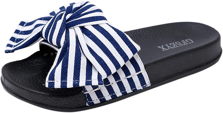 Joyhul 2019 Women Slipper Summer Bow Knot Slipper Fashion Casual Home Slippers Beach shoes women DA,bluee,37,United States