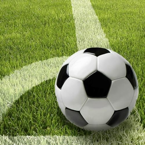 Unbekannt '50 Serviettes, 3 Plis Pliage 1/4 33 cm x 33 cm Football Football