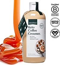 Keto Coffee Creamer with MCT Oil, 16oz Smooth Caramel *Emulsified, No Blending Required* Unsweetened & Dairy Free, C8 & C10 MCTs from Organic Non-GMO Coconuts - NO Palm Oil, by Natural Force