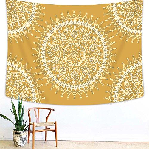 Arfbear Böhmischen Tapisserie, Mandala Hippie Wandbehang Tapisserie Warmen Goldenen Gelben Strand Decke groß 78,7 x 59 Zoll