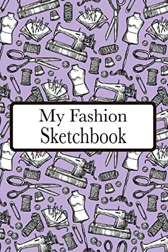 My Fashion Sketchbook: Fashion Croquis Sketchbook Female Figure Template Easily Sketch On Large Figure Template accompanied by Dot Grid pages for Accessories etc.  (purple)