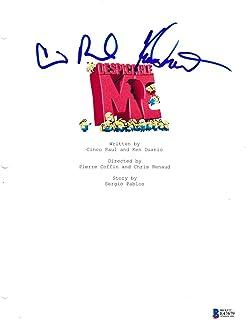 Cinco Paul Ken Daurio Signed Despicable Me Script Beckett Bas Autograph Auto - Beckett Authentication