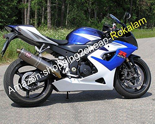 Ventas calientes, promoción azul blanco carenado para GSXR1000 05 06 GSX-R1000 2005 2006 GSXR 1000 K5 ABS Moto Fairing (moldeo por inyección)