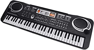 Roll-Up Flexible Electronic Piano Keyboard,61 Keys Portable Rechargeable Flexible Electronic Piano Keyboard With Microphon...