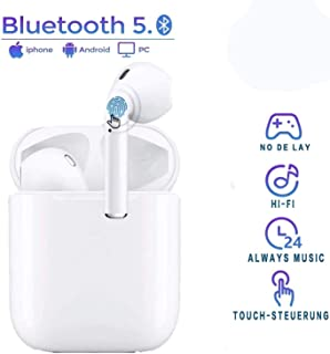 Bluetooth 5.0 Earphones TWS i12 Earbuds with HD Stereo Sound Touch-Control Pop-Up Connection Auto Pairing for Gaming Working Sports Execrise Travel Headsets Music with IPX7 Waterproof
