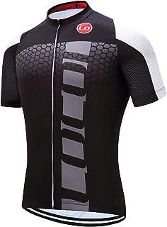 Coconut Men's Shorts Sleeve Cycling Jersey Tops Bike Clothing Biking Shirt with 3 Pockets