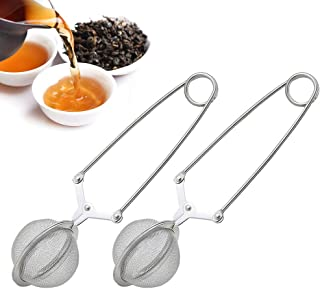 TraderPlus 2 Pack Stainless Steel Loose Leaf Tea Infuser Mesh Strainer Ball with Handle, Quick Snap