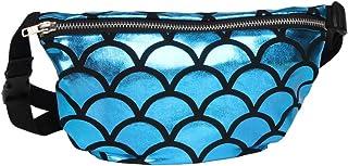 BaronHong Mermaid Sequin Small Cosmetic Bag Magic Makeup Handbag Glitter Pencil Case