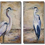 Artistic Home Gallery Blue Heron I & II by Patricia Pinto 2-pc Premium Stretched Canvas Art Set (Ready to Hang)