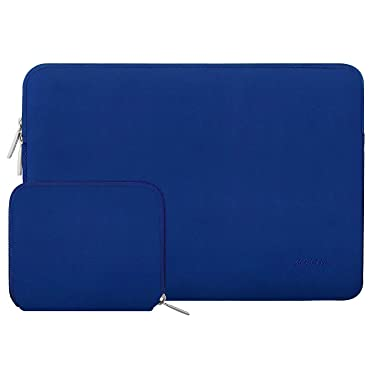 MOSISO Laptop Sleeve Compatible with 13-13.3 inch MacBook Pro, MacBook Air, Notebook Computer, Water Repellent Neoprene Bag with Small Case, Royal Blue